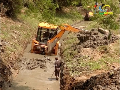 Cleaning of Thongangbi canal in Langdum began today after a gap of 24 years