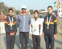 Manipuri Wushu players felicitated
