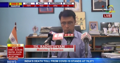 Education Minister Doctor Thokchom Radheshyam says news about reopening of schools from September 21st is false news