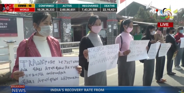 Imphal College Students condemn unregulated transport fare