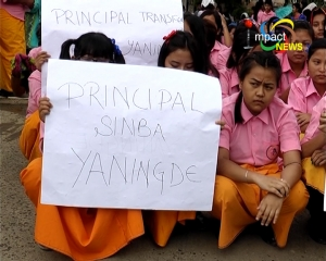 TG STUDENTS DEMAND GOVT TO REVOKE SCHOOL PRINCIPAL'S TRANSFER ORDER